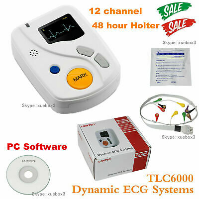 £366.66 • Buy TLC6000 CONTEC ECG Holter Monitor 48h 12-channel ECG Recorder,+Analysis Software