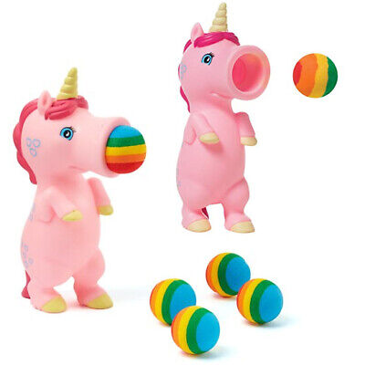 Unicorn Popper Toy 5 Foam Ball Shooter Squeeze Animal Gift Fun  Shoots Up 20ft • 114.99£