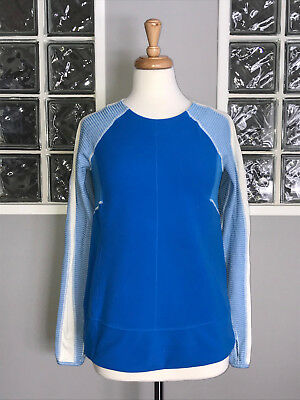 $ CDN50 • Buy Lululemon Bold In The Cold Long Sleeve 6 Pullover Beaming Blue Laceoflage Euc