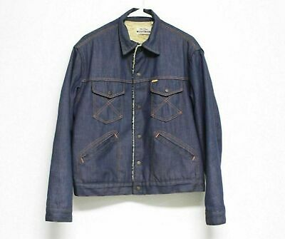 0bf70487b51 VTG Antique Denim Jean Sanforized Farm Chore Jacket BIG YANK 50s Sherpa Lvc  E • 59.95