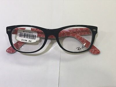 bd90c16b38 NEW Ray Ban RB5184 (2479) Black On Red 52  18 145 Eyeglasses