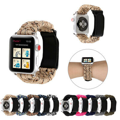 AU13.23 • Buy 42/40/44mm Nylon Rope Sport Band Outdoor Strap For Apple Watch Series 6 5 4 3 SE