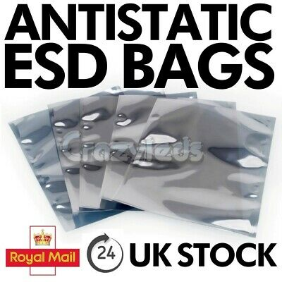 Anti Static Bags ESD Metallic Shielding Multi-listing Various Size Large Small, • 10.33£