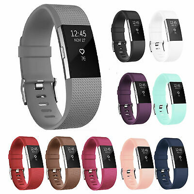 $ CDN6.17 • Buy For OEM Fitbit Charge 2 HR Replacement Band Silicone Bracelet Watch Rate Fitness