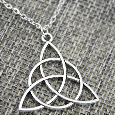 AU2.64 • Buy 28mm Triquetra Symbol Pendant Necklace Jewelry, Handmade Necklace Gift For Women