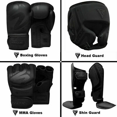 $ CDN44.99 • Buy RDX Boxing Gloves, MMA Gloves,Shin Guard,Head Guard,Kickboxing Training Black CA