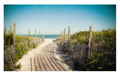 Large British Beach Jetty Seaside Canvas Wall Picture Ocean Print Frame 80x50cm • 11£