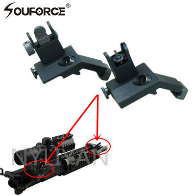 £13.99 • Buy Front And Rear Flip Up 45Degree Offset Iron Sight Rapid Transition Backup Sights
