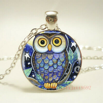 AU2.70 • Buy 1pcs Cute Owl Tibet Silver Pendant Chain Necklace For Women Jewelry Gift