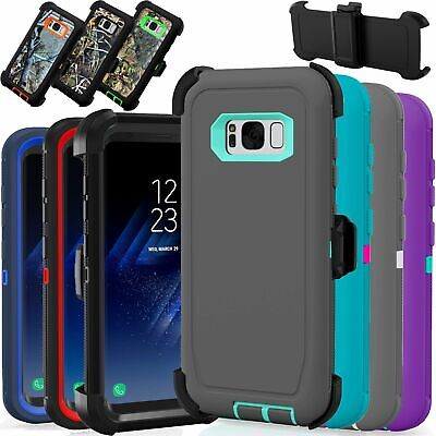 $ CDN11.81 • Buy For Samsung Galaxy S8 Case Cover Rugged With (Belt Clip Fits Otterbox Defender)