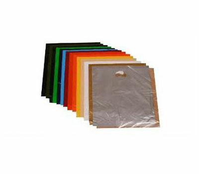 25 Plastic Bags With Strong Handles BURGUNDY 10 X 16 X 4  • 5.55£