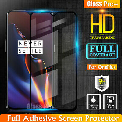 AU7.49 • Buy GLASS PRO+ Full Cover Tempered Glass Screen Protector For OnePlus 6T 6 5 3T 3