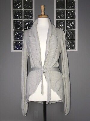 $ CDN52.20 • Buy LULULEMON SPORT CARDI 4 GRAY KNIT CARDIGAN SWEATER GUC BELTED Rare Style