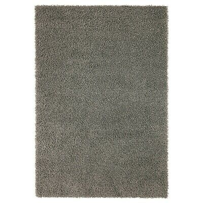 Ikea Hampen Rug High Pile Grey Home Bedroom Living Room 133 X 195 Cm • OFFER • 56.72£
