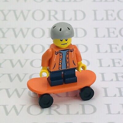 Lego Minifigure Small Boy On Skateboard City Park Spares Extras New Kid Child • 4.49£