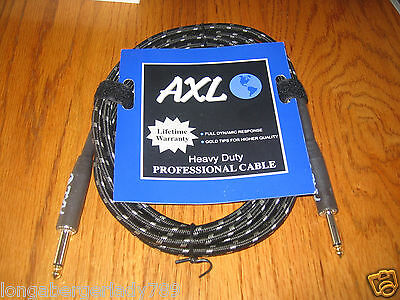 $ CDN16.40 • Buy New Black Gray Tweed Professional Guitar Cable Cord Bass Effects Instrument Amp