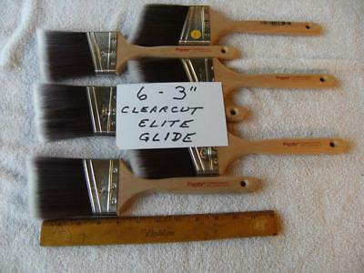 Purdy Paint Brush Lot Of  6 Clearcut Elite Glide  3 .   No Covers.  Excellent. • 42$