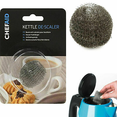 £2.75 • Buy 2x Kettle Descaler Chef Aid Stainless Steel Wire Scale & Furring Remover Cleaner