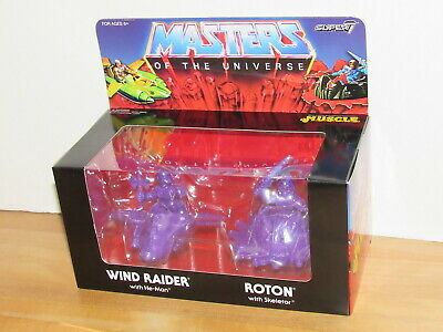 $29.99 • Buy Super7 He-Man Masters Of The Universe MUSCLE Wind Raider Roton Purple MISB MIB