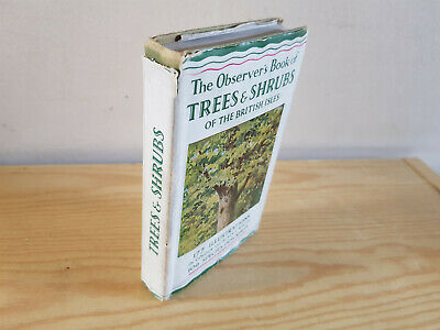 £5.99 • Buy THE OBSERVER'S BOOK OF TREES & SHRUBS - 1950s  - In Dust Jacket