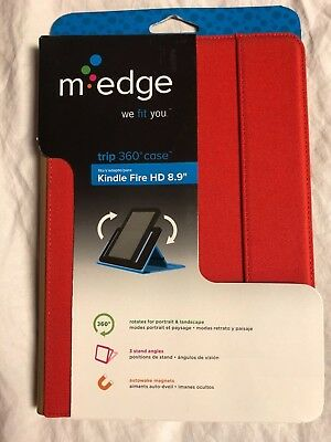 $7.19 • Buy M-Edge Trip 360 Case Kindle Fire HD 8.9  Red / Brown Brand New A91-TR-C-PG
