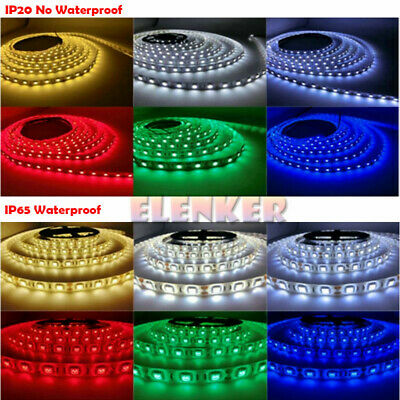 $10.99 • Buy 12V 5050 Waterproof LED Strip Light 5M 300LEDs For Boat / Truck / Car/ Suv / Rv