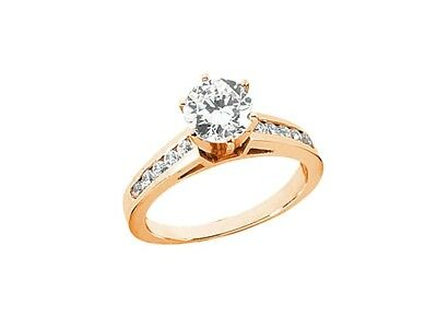 $881 • Buy Natural 0.50Ct Round Cut Diamond Cathedral Engagement Ring Solid 18k Gold G SI1