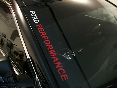 $9.99 • Buy FORD PERFORMANCE  Windshield Decal Ford Mustang GT F150 F250 Focus ST