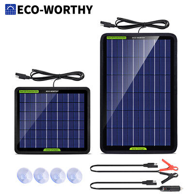 AU16.99 • Buy 10W 5W Watt Solar Panel Kit Trickle Charger 12V Battery Charger For RV Boat Car
