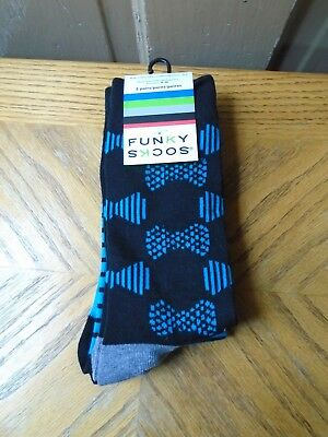 $7.99 • Buy Funky Men's Socks (2 Pair)  Size 4-10     NEW WITH TAGS  CLEARANCE