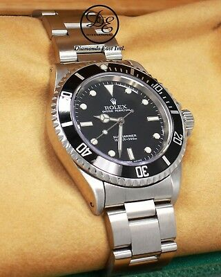 $ CDN11131.78 • Buy ROLEX Submariner 14060 Oyster Steel Black Dial Watch BOX/PAPERS *MINT CONDITION