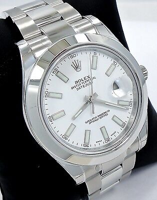 $ CDN10917.14 • Buy Rolex Datejust II 116300 41mm Smooth Bezel Stainless Steel White Dial *BRAND NEW