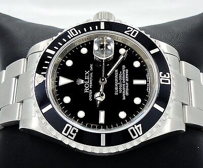 $ CDN10854.66 • Buy Rolex Submariner 16610 SS Black Dial Oyster Date Men's Watch *MINT CONDITION*