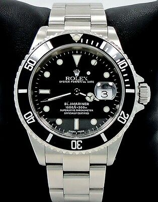 $ CDN10325.10 • Buy ROLEX Submariner 16610 Oyster Date SS Black Dial Men's Watch *MINT CONDITION*