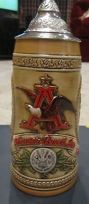 $ CDN36.29 • Buy Anheuser Busch Budweiser Lidded Beer Stein Limited Edition  A  Series Numbered