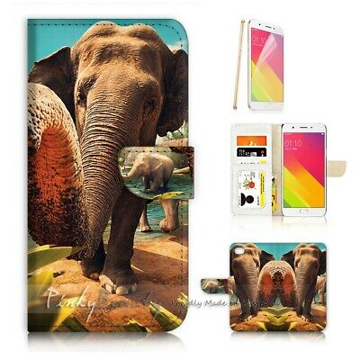AU12.99 • Buy ( For Oppo A57 ) Wallet Case Cover P21760 Elephant