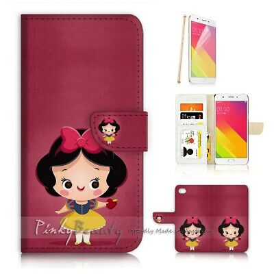 AU12.99 • Buy ( For Oppo A57 ) Wallet Case Cover P21725 Cute Snow White Princess