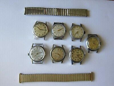 $ CDN72.27 • Buy Lot Of Vintage Men's Wrist Watch Head Movement Band Parts/repairs