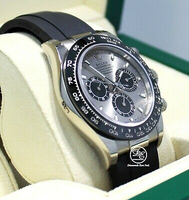 $ CDN48684.58 • Buy Rolex Daytona 18K White Gold 116519LN Oyster Perpetual Cosmograph Watch *NEW*