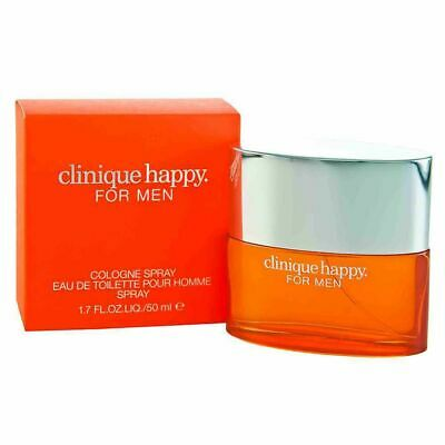 Clinique Happy Cologne Spray Eau De Toilette For Men Perfume 50 Ml New  • 21.99£