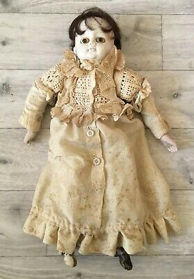 £49.99 • Buy Rare Antique German Doll With Glass Eyes