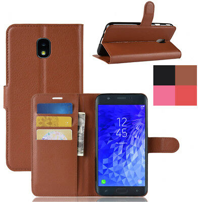 AU5.47 • Buy Magnetic Card Wallet Flip Case PU Leather Cover For Samsung Galaxy J3 J6 J7 2018