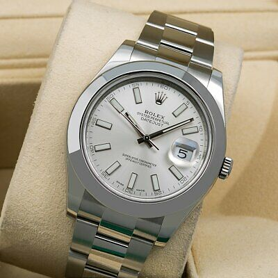 $ CDN12462.61 • Buy Rolex Datejust II 116300 41MM Silver Stick Dial With Stainless Steel Bracelet