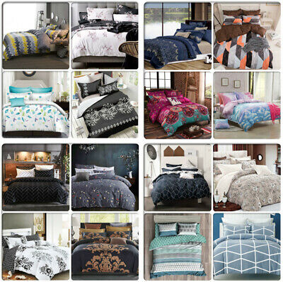 AU59.99 • Buy ARTISTIC Queen/King/Super King Size Bed Doona/Duvet/Quilt Cover Pillowcases Set