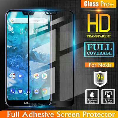AU7.99 • Buy GLASS PRO+ Full Cover Tempered Glass Screen Protector For Nokia 2.1 3.1 6.1 7.1