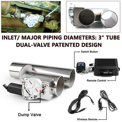 $ CDN157.24 • Buy 3  Inch / 76mm Exhaust Control E-Cut Out Valve Electric Y Pipe W/ Remote Kits