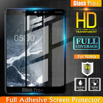 AU4.49 • Buy Glass Pro+ Full Cover Tempered Glass Screen Protector For Nokia 5.1 7 Plus 8 8.1