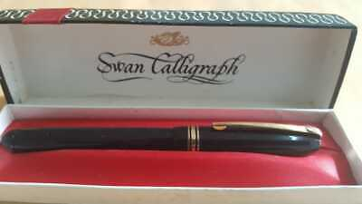 $225 • Buy Vintage Mabie Todd Swan Leverless Calligraphy Fountain Pen With Original Box
