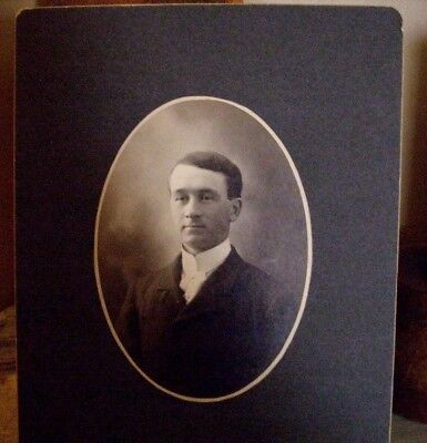 Vintage Photo Handsome Young Man Mounted On Board 7x9 Photo 4x5 • 2.26£