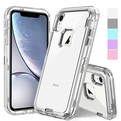 AU9.32 • Buy IPhone X XS Max XR 6 7 8 Plus 11 12 13 Clear Crystal Defender Hybrid Case Cover